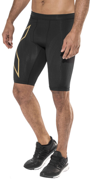 2XU Elite MCS Run Compression Short Tights Men Black/Gold